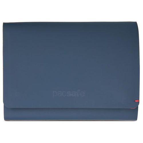 Pacsafe RFIDsafe TEC Trifold Wallet portfel unisex / Navy/Red - Navy / Red
