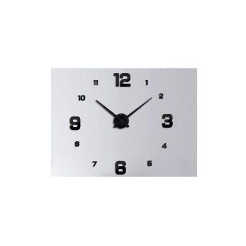 Pozostali Zegar ścienny czarny 4 duże cyfry (5901779369587)