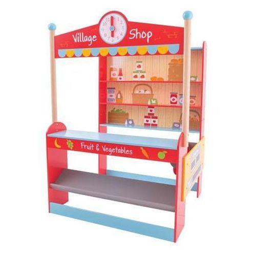 Bigjigs toys Stoisko do sklepu - wiejski sklep do zabawy dla dzieci, bigjigs
