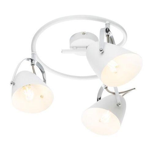 Globo Spirala armeca 54654-3 lampa sufitowa spot 3x40w e14 biały