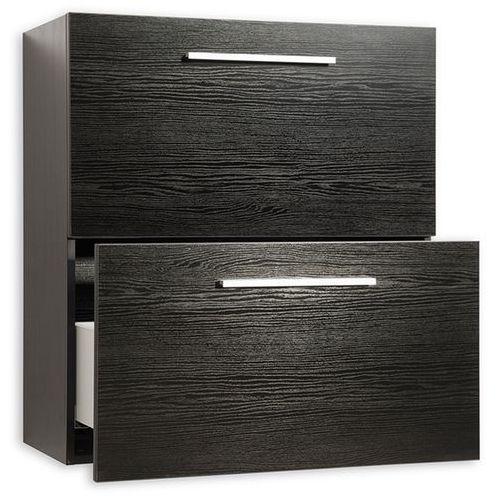 Meble łazienkowe - szafka wisząca łazienkowa czarna - MURCIA, kolor szary