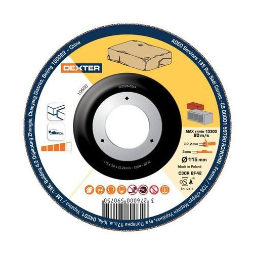 Tarcza do betonu i kamienia 42 115 x 3.0 x 22.2 DEXTER (3276000590750)