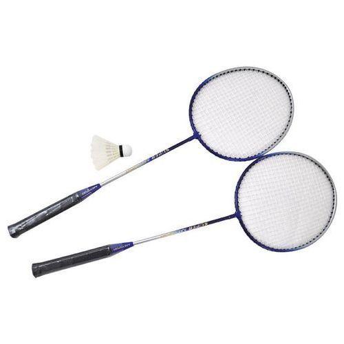 Zestaw do Badmintona 2 rakietki + lotka AXER - Niebieski - Niebieski