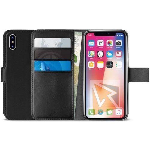 Puro Etui na smartfon booklet wallet case do apple iphone xs max czarny ipcx65bookc4blk