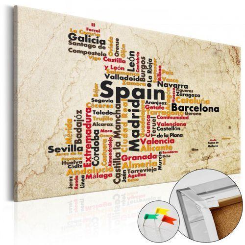 Artgeist Obraz na korku - hiszpańskie miasta (es) [mapa korkowa]