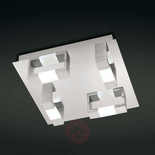 Lampa sufitowa LED Paul Neuhaus Kemos 2198-96, LED wbudowany na stałe, 19.2 W, 3000 K, (DxSxW) 35 x 35 x 8.5 cm, aluminiowy, 2198-96