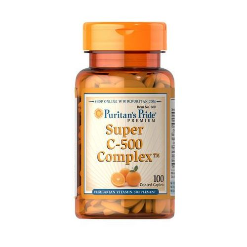 Puritan's pride Witamina super c-500 complex 100 tabletek puritan's pride (2552501002277)