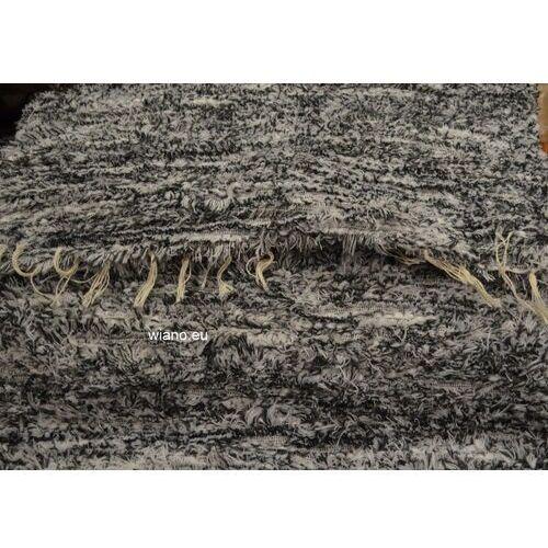 Twórczyni ludowa Chodnik bawełniany, ręcznie tkany, ciemnoszary-biały 65x150