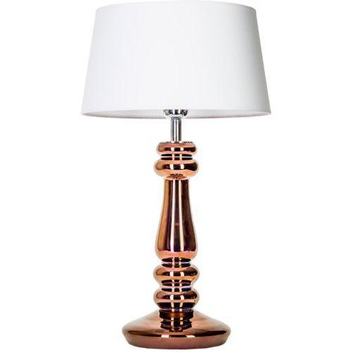 Lampa stołowa lampka petit trianon copper 1x60w e27 biały/miedziany l051261217 marki 4concepts