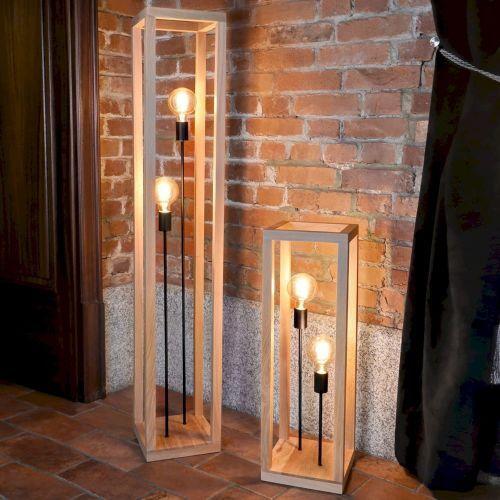 Spot light Kago podłogowa spot-light 51524274 drewno dębowe/metal (5905840201752)