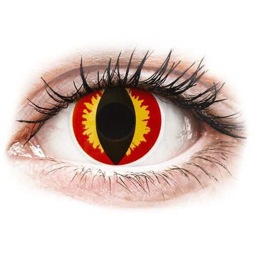 Maxvue vision Colourvue crazy lens - dragon eyes - jednodniowe zerówki (2 soczewki) (9555644825669)