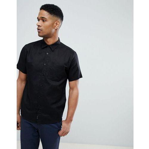 Bellfield Short Sleeve Shirt In Black - Black, kolor czarny