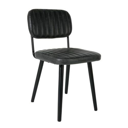 White label living krzesło jake worn czarne 1100260 (8718548025172)