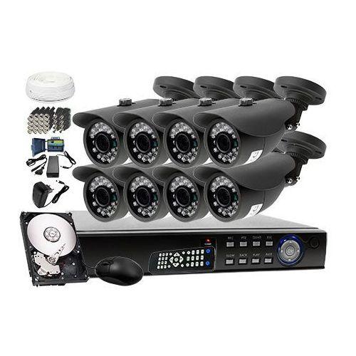 Ivelset Zestaw do monitoringu: rejestrator 8 kanałowy lv-hdvr0801h + 8x kamera lv-al20mt + dysk 1tb + akcesoria