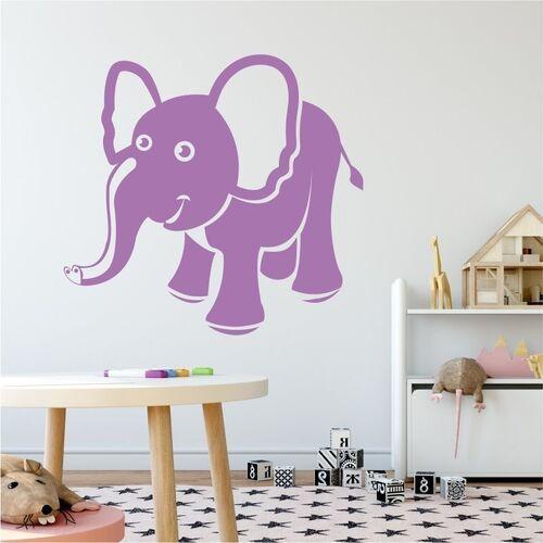 Wally - piękno dekoracji Naklejka na ścianę dla dzieci słonik 2272