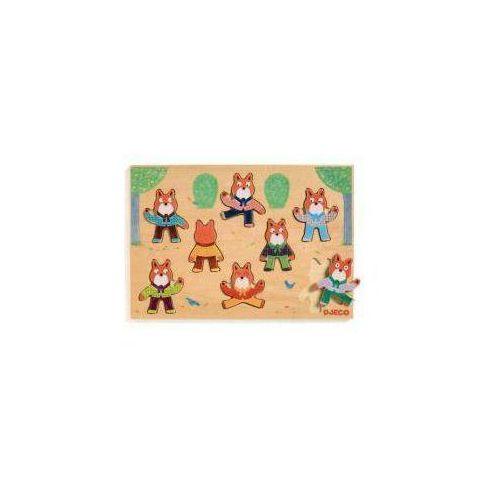 Drewniane puzzle - dopasuj liska marki Djeco