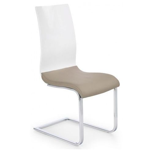 Profeos.eu Krzesło tapicerowane faran - cappuccino + biały