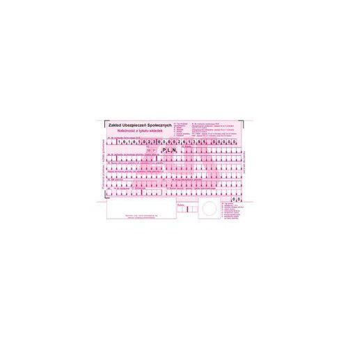 Druki Samokopiujące Typograf Polecenie Przelewu Zus 2 Odc A6 80