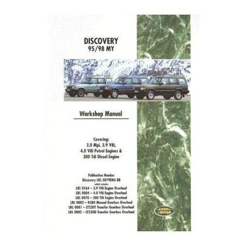 Land Rover Discovery Workshop Manual 1995-1998 MY, oprawa miękka