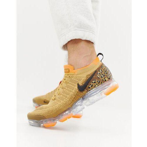 Nike running vapormax safari cheetah trainers in beige - beige