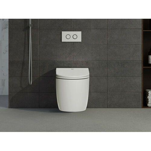 Inteligentna, stojąca miska wc genta – kolor biały marki Vente-unique