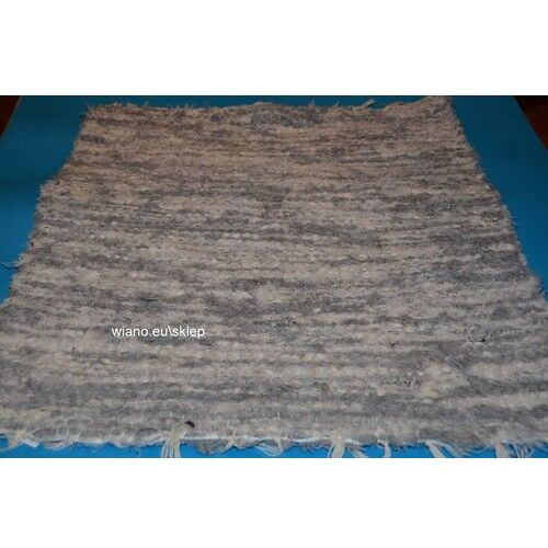 Chodnik bawełniany (wycieraczka) ręcznie tkany jasno szary-ecru 65x50 marki Twórczyni ludowa
