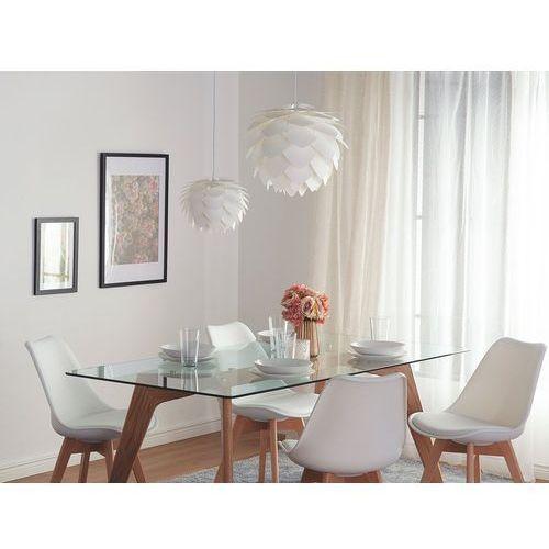 Beliani Lampa sufitowa z oprawą - biała - andelle (7081458234738)