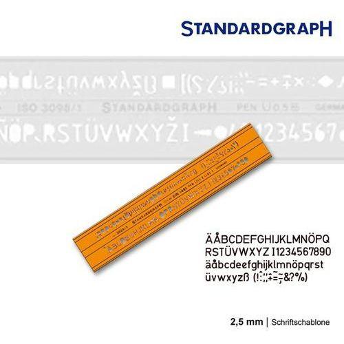 Szablony techniczne Szablon literowy h-profil prosty 2,5mm x1