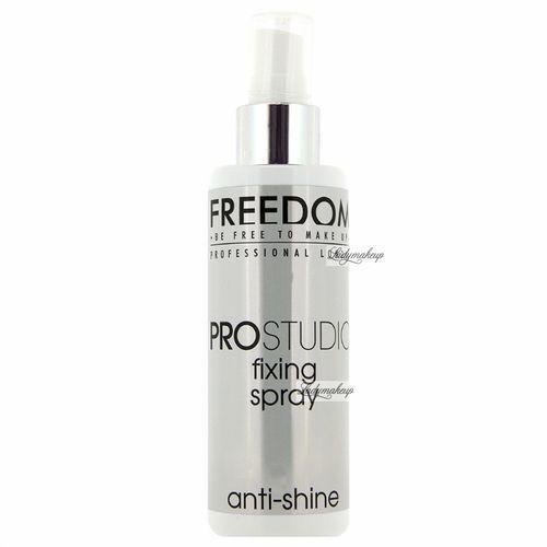 - pro studio anti shine fixing spray - matujący spray utrwalający makijaż marki Freedom