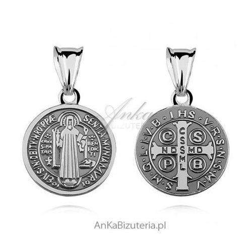 Anka biżuteria Ankabizuteria.pl medalik św. benedykt - srebrny medalik