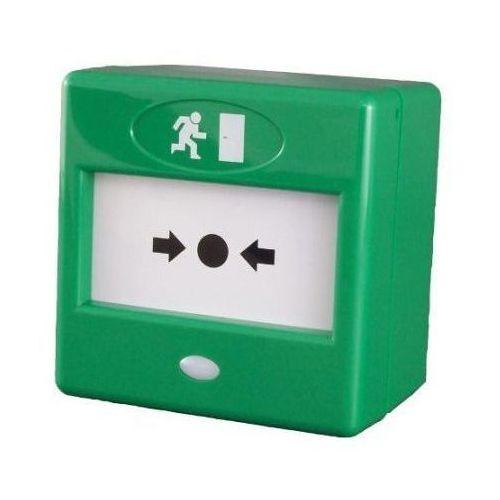 Import Fp3/gr przycisk wyjścia awaryjnego zielony, praca resetowalna lub nieresetowalna
