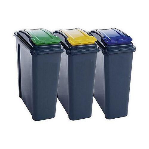 Kosze na śmieci do segregacji Panta Plast 25L x 3szt. 0435-0003-99