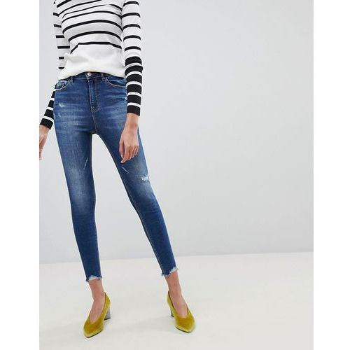 Stradivarius Super High Waist Skinny Jeans - Blue, kolor niebieski