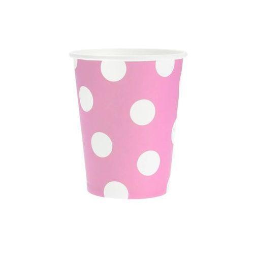 Kubeczki papierowe groszki jasnoróżowe - 270 ml - 6 szt. marki Godan