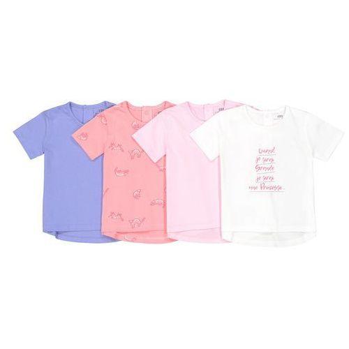 La redoute collections Komplet 4 koszulek 1 miesiąc - 3 lata oeko tex