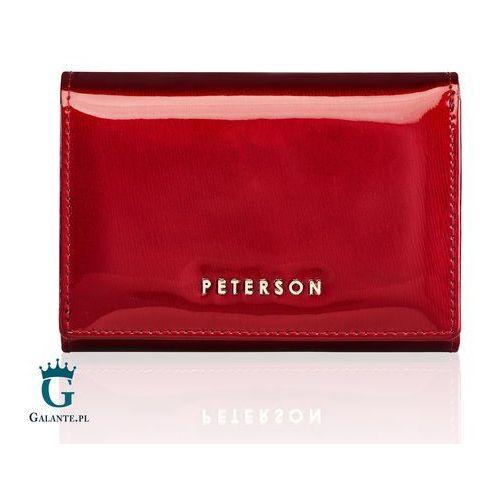 4378e6e9d9516 Czerwony portfel damski lakierowany bc445 marki Peterson