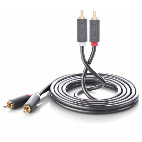 kabel przewód stereo audio wideo 2 rca 2x cinch 5m szary (10520) - 5 marki Ugreen