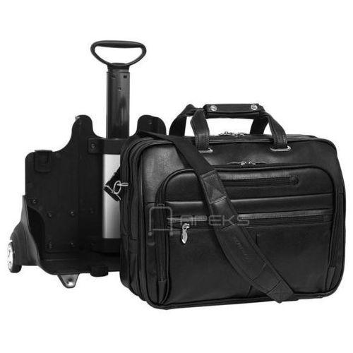 """McKlein Ohare skórzana torba z dopinanym stelażem na kółkach na laptopa 17"""" - czarny"""