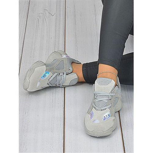 Popielate sportowe buty Lena, kolor szary