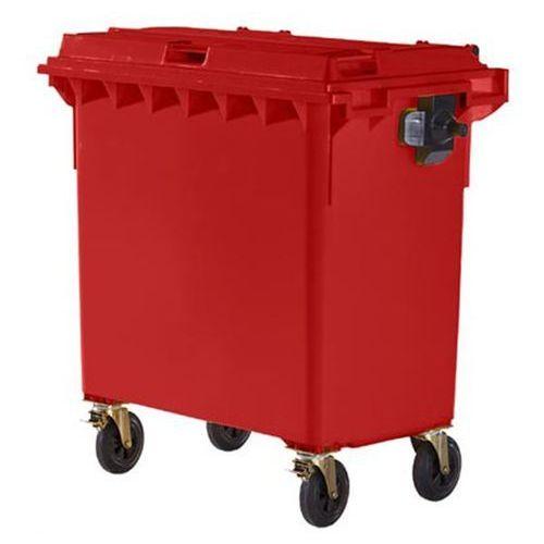 Schaefer group Duży pojemnik z tworzywa na odpady wg pn en 840, poj. 770 l, czerwony, dostawa o
