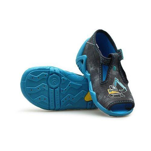 Sandałki dziecięce Befado 217P078 Szare/Błękitne 18x4 19x4