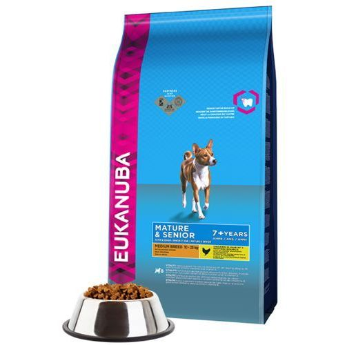 Eukanuba mature&senior medium 3kg (8710255120980)