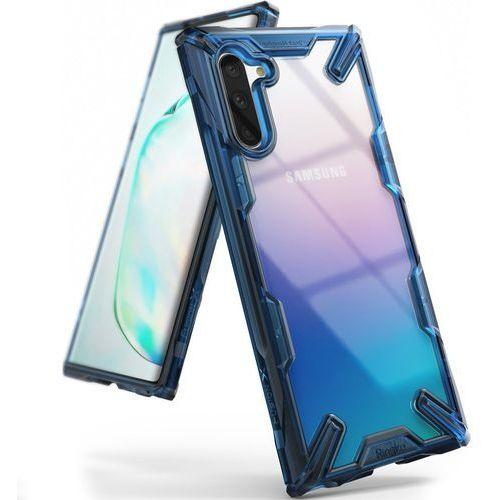 Ringke Fusion X etui pancerny pokrowiec z ramką Samsung Galaxy Note 10 niebieski (FUSG0028) - Niebieski (8809659048065)
