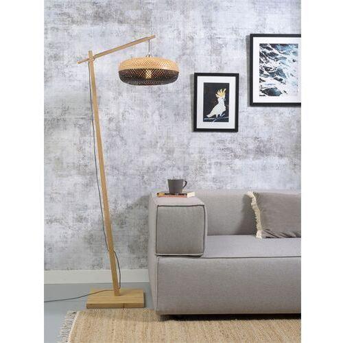 Good&mojo lampa podłogowa palawan naturalna 40x15 czarny palawan/f/ad/n/4015/bn (8716248084444)