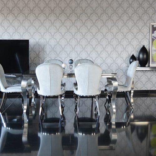Stół glamour paris - stal szlachetna satynowana blat kamienny nowoczesny marki Bellacasa