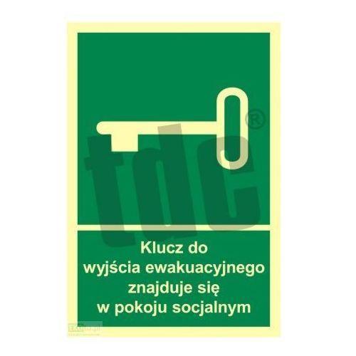 Klucz do wyjścia ewakuacyjnego znajduje się w pok. socjalnym Art. AC031