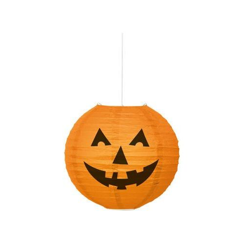 Lampion dynia na halloween - 25 cm - 1 szt. marki Unique