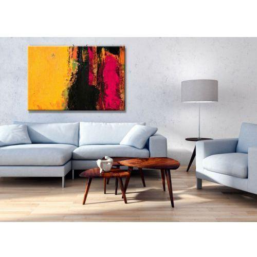 Żółto różowy ambaras - obraz na płótnie