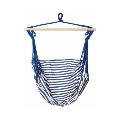 Hamak - krzesło brazylijskie biało-niebieskie marki Jumi