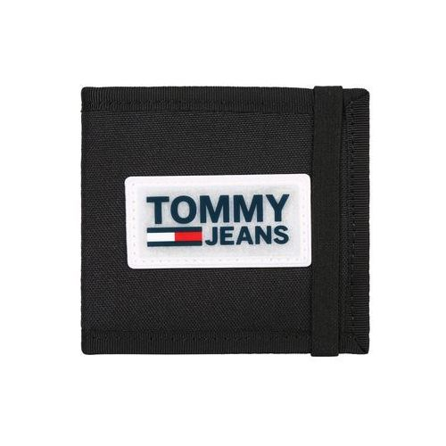 Tommy jeans portmonetka 'urban varsity mini cc' czarny
